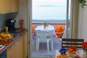 View from the kitchen to the Aeolian Islands